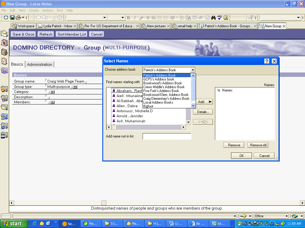 Creating a Personal Address Book Entry in Lotus Notes