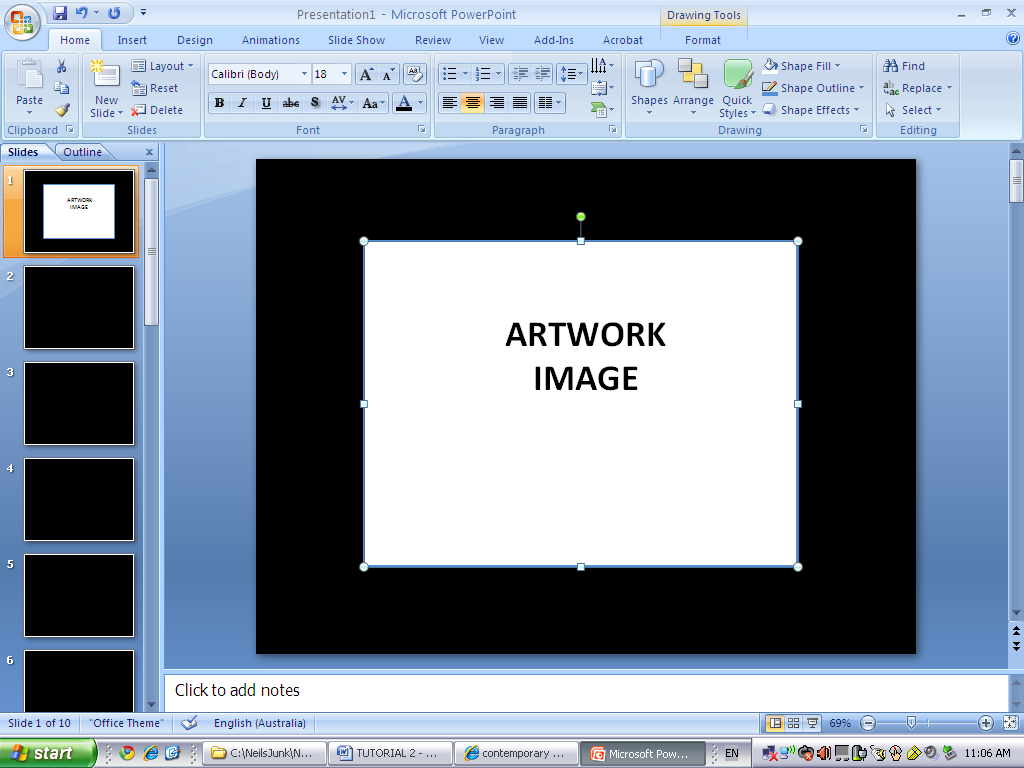 Creating a slide presentation using microsoft powerpoint n baditri Image collections